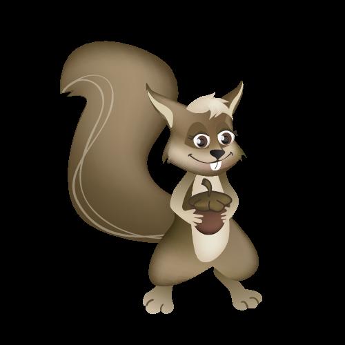 Grande feuille ecureuil